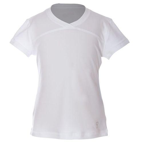 Sofibella UV Short Sleeve Top Girls White 4855 WHT