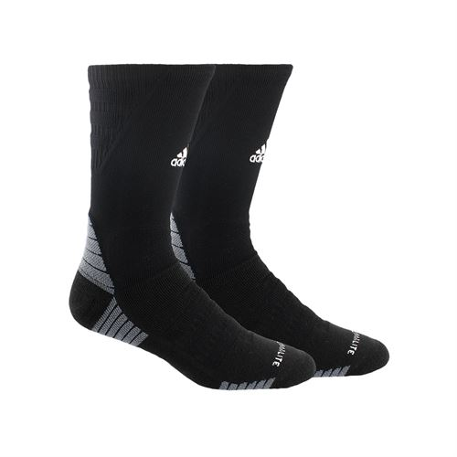 adidas Alphaskin Maximum Cushioned Crew Sock - Black/White/Onix