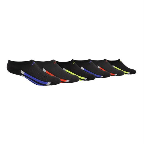 adidas Youth Vertical Stripe No Show Sock (6 Pack) - Black