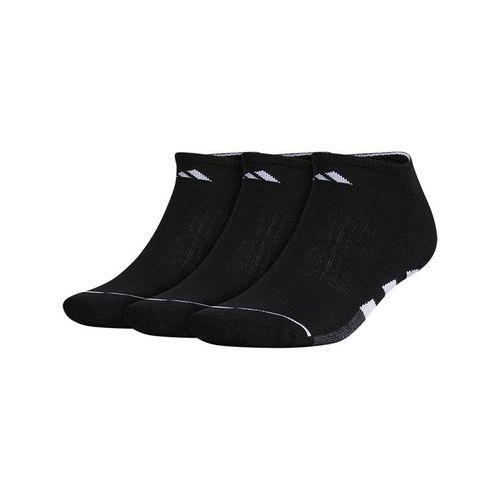 adidas Cushioned II 3 Pack No Show Sock - Black/White/Onix Marl