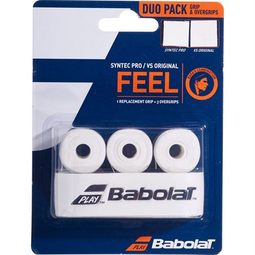Babolat Syntec Pro + VS Original Replacement Grip - White