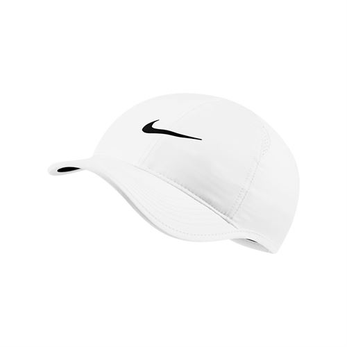 Nike Womens Court Aerobill Featherlight Hat - White