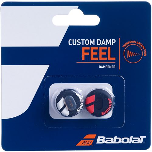 Babolat Custom Damp Vibration Dampener - Black/Fluo Red