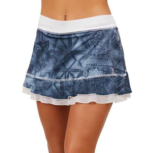 Sofibella UV Doubles 13 inch Skirt Womens Script Denim 7010 SDM