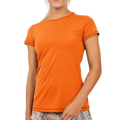 Sofibella UV Colors Short Sleeve Top - Nectarine