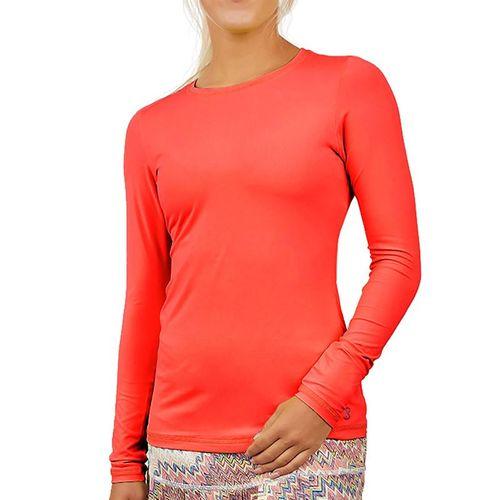 Sofibella UV Colors Long Sleeve Top Womens Berry Red 7013 BER