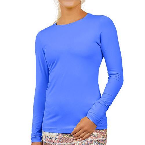 Sofibella UV Long Sleeve Top Womens Valley Blue 7013 VBL