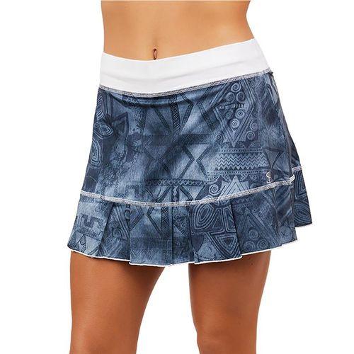 Sofibella UV 14 inch Skirt Womens Script Denim 7016 SDM