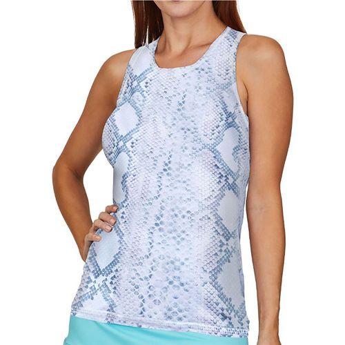 Sofibella UV Feather Tank Plus Size Womens Anaconda 7085 ANCP