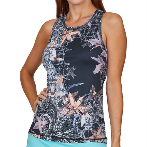 Sofibella UV Feather Tank Plus Size Womens Orchid 7085 ORCP