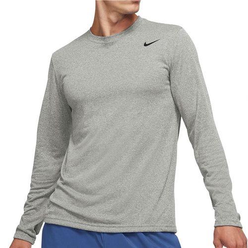 Nike Legend 2.0 Long Sleeve Crew - Dark Grey Heather/Black