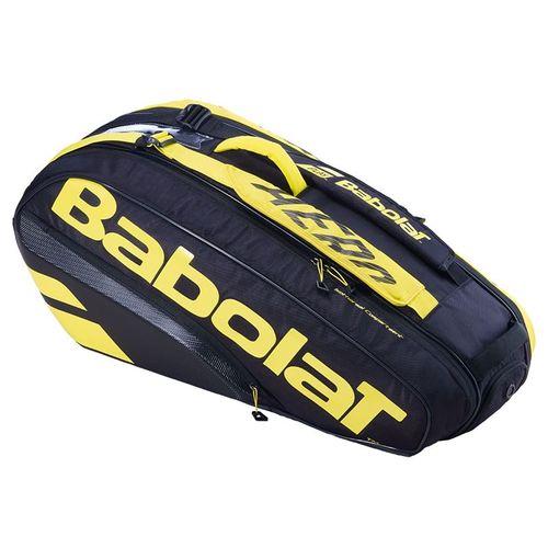 Babolat 2021 Pure Aero 6 Pack Tennis Bag - Yellow/Black