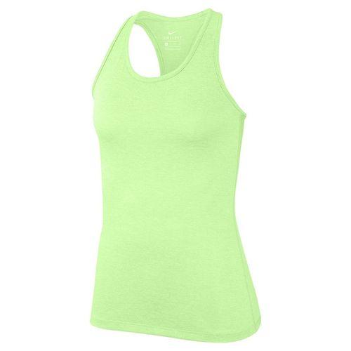 Nike Dry Training Tank Womens Barely Volt/Heather/White 889073 701