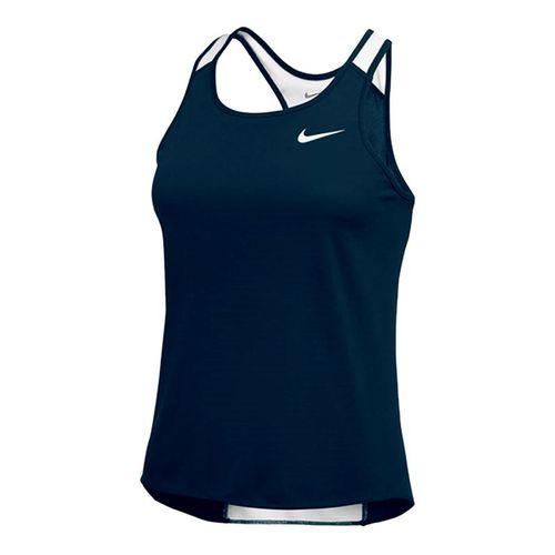 Nike Breathe Singlet Tank - Navy/White