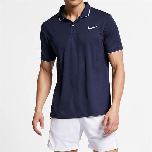 Nike Court Dry Team Polo - Obsidian/White