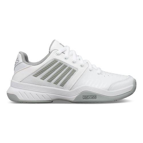 K Swiss Court Express Womens Tennis Shoe White/High Rise/Silver 95443 150