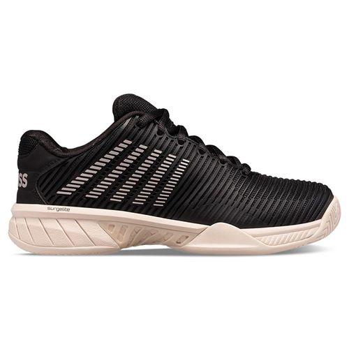 K Swiss Hypercourt Express 2 Womens Tennis Shoe Black/Rose Gold/Pink Tint 96613 061