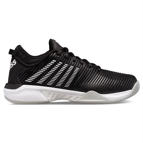 K Swiss Hypercourt Supreme Womens Tennis Shoe Black/White/Highrise 96615 039