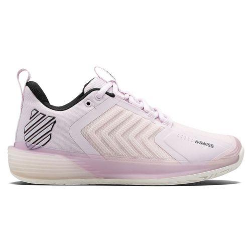 K Swiss Ultrashot 3 Womens Tennis Shoe Orchid Ice/Blanc de Blanc/Black 96988 582