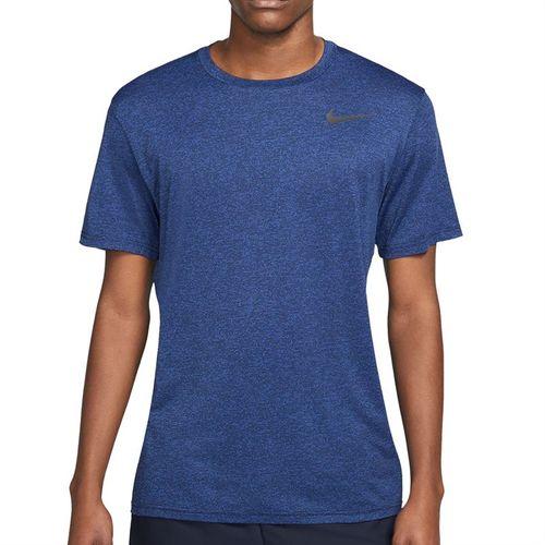 Nike Dry Tee Shirt Mens Obsidian/Game Royal/Heather/Black AR0196 451