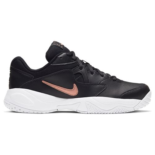 Nike Court Lite 2 Womens Tennis Shoe Black/Metallic Red Bronze/White AR8838 003