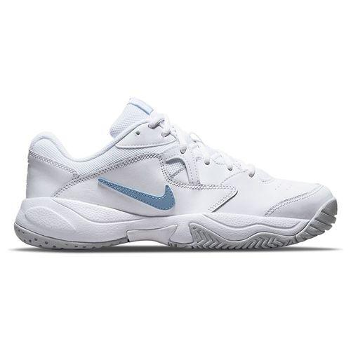 Nike Court Lite 2 Womens Tennis Shoe White/Aluminum/Pure Platinum AR8838 112