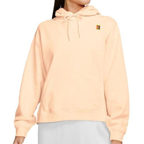 Nike Court Hoodie Womens Rush Guava Ice/White AV0766 838