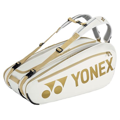 Yonex Limited Edition Pro 9 Pack Tennis Bag - White/Gold