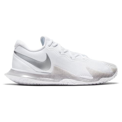 Nike Court Air Zoom Vapor Cage 4 Womens Tennis Shoe White/Metallic Silver/Grey Fog CD0431 104