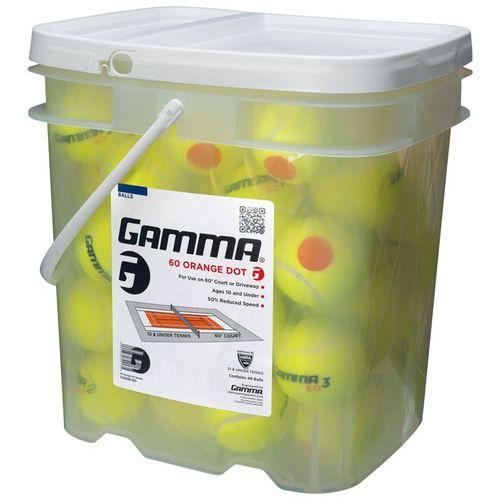 Gamma 60 Orange Dot Tennis Ball 48 Ball Bucket