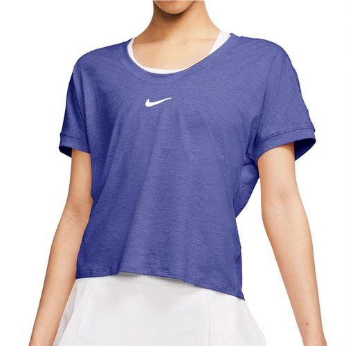 Nike Court Dri Fit Top Womens Rush Violet/White CI9316 554