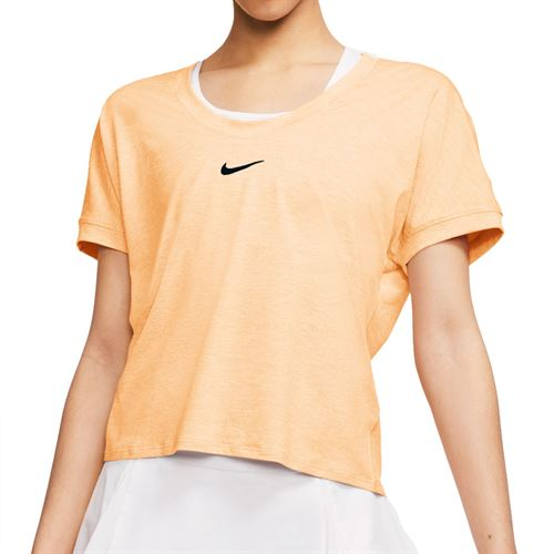 Nike Court Dri Fit Top Womens Guava Ice/Black CI9316 838