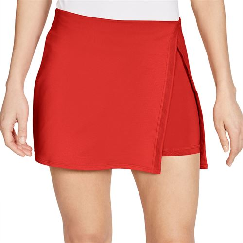 Nike Court Dri Fit Skirt Womens Habanero Red/White CJ0944 634