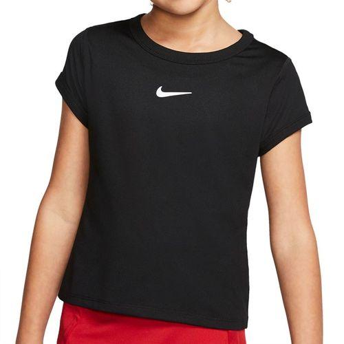 Nike Girls Court Dri Fit Top White/Black CQ5386 010