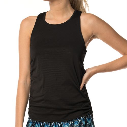 Lucky in Love Core Airy Cinch Tank - Black