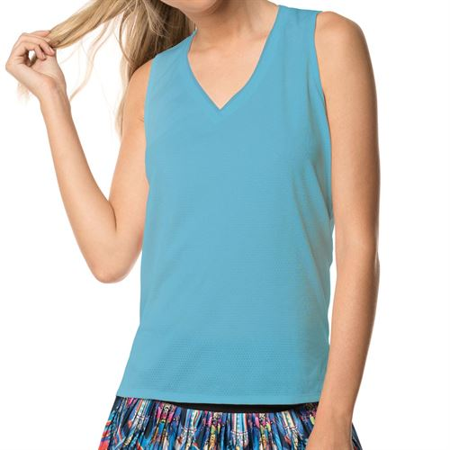 Lucky in Love Core Relaxed Racerback Tank Womens Ocean CT479 410