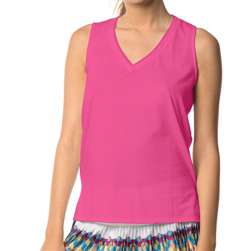 Lucky in Love Core Relaxed Racerback Tank Womens Shocking Pink CT479 645