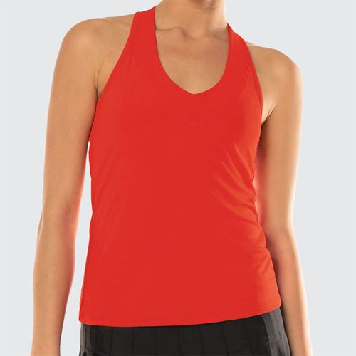 Lucky in Love Scaling Up V Neck Tank - Red