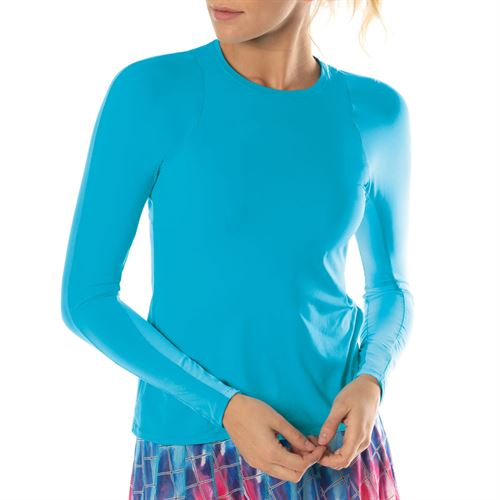 Lucky in Love L UV Protection Breeze Long Sleeve Crew Top Womens Breeze CT634 422