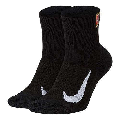 Nike Court Multiplier Max Quarter Black Crew Sock