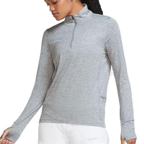 Nike Element 1/2 Zip Long Sleeve Top Womens Smoke Grey/Lt Smoke Grey/Reflective Silver CU3220 084