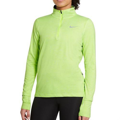 Nike Element 1/2 Zip Long Sleeve Top Womens Volt/Barely Volt/Heather/Reflective Silver CU3220 702