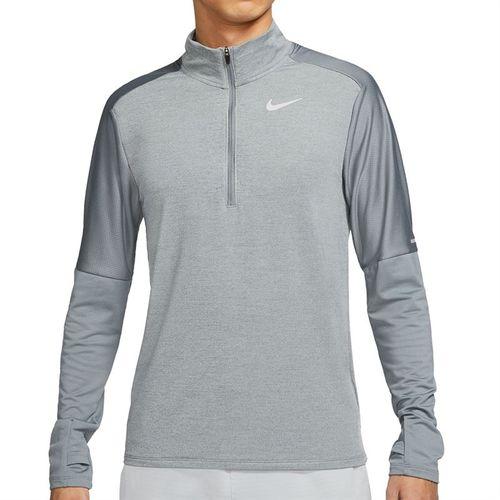 Nike Dri FIT 1/2 Zip Jacket Mens Smoke Grey/Grey Fog/Reflective Silver CU6073 084