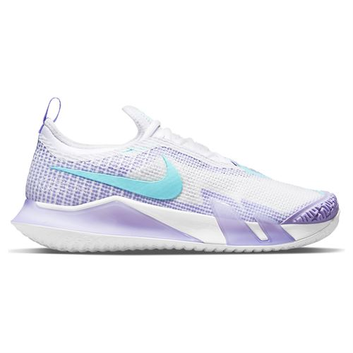 Nike Court React Vapor NXT Womens Tennis Shoe White/Purple Pulse/Volt CV0742 124