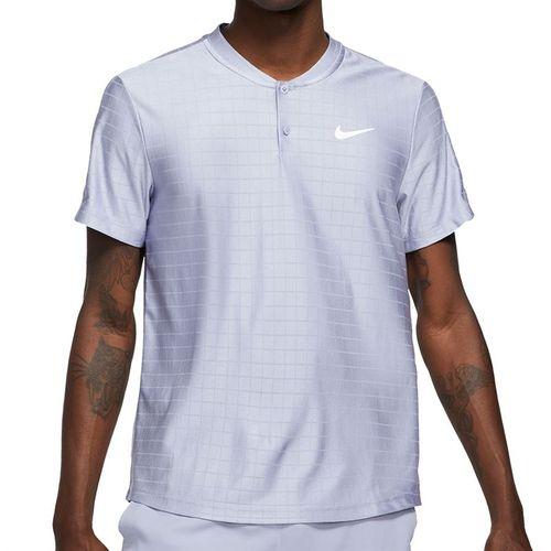 Nike Court Dri FIT Advantage Shirt Mens Indigo Haze/White CV2499 519