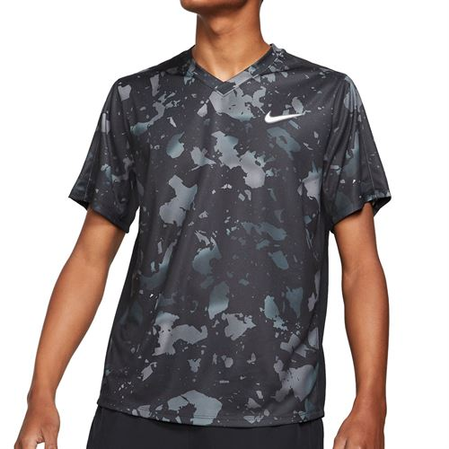 Nike Court Dri-Fit Victory Printed Crew - Black/White