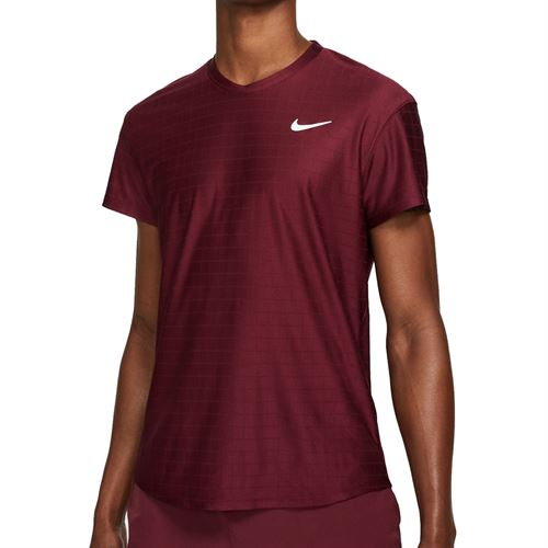 Nike Court Breathe Advantage Shirt Mens Dark Beetroot/White CV5032 638