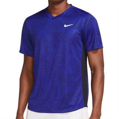 Nike Court Dri FIT Victory Shirt Mens Concord/Black/White CV7858 471