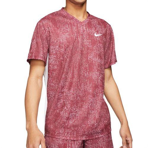 Nike Court Dri FIT Victory Shirt Mens Dark Beetroot/White CV7858 638