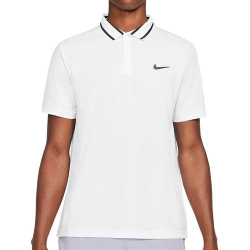 Nike Court Dri FIT Victory Polo Shirt Mens White/Black CW6848 100